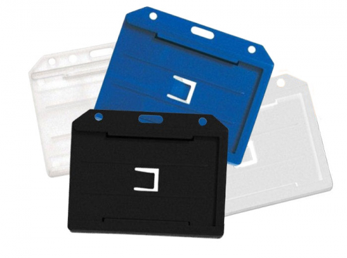 Double-sided multi-card holder horizontal