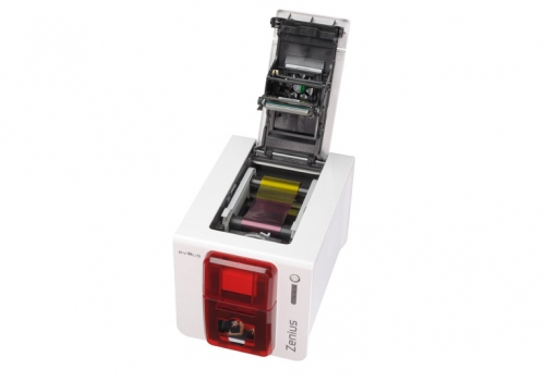 Evolis Zenius Classic Red ID Card Printer open