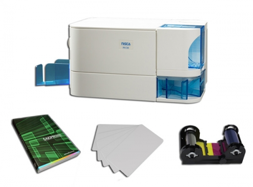 NISCA PR-C101 ID Card Printer Bundle