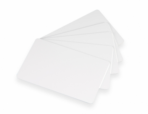 PVC Plastic Cards Blank White Adhesive Back 10 mil