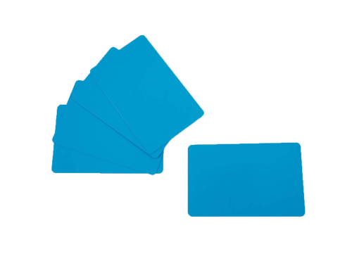 PVC Plastic Cards Blank Light Blue Cyan 0.76 mm