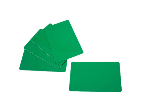 PVC Plastic Cards Blank Green 0.76 mm