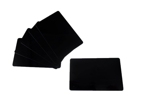 PVC Plastic Cards Blank Matt Black 0.76 mm