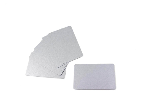 PVC Plastic Cards Blank Silver 0.76 mm