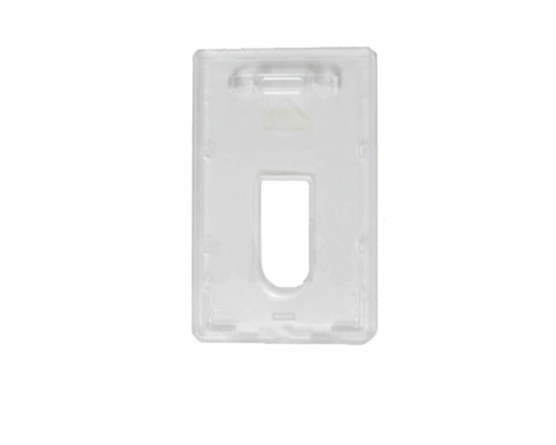 Premium badge holder vertical frosted