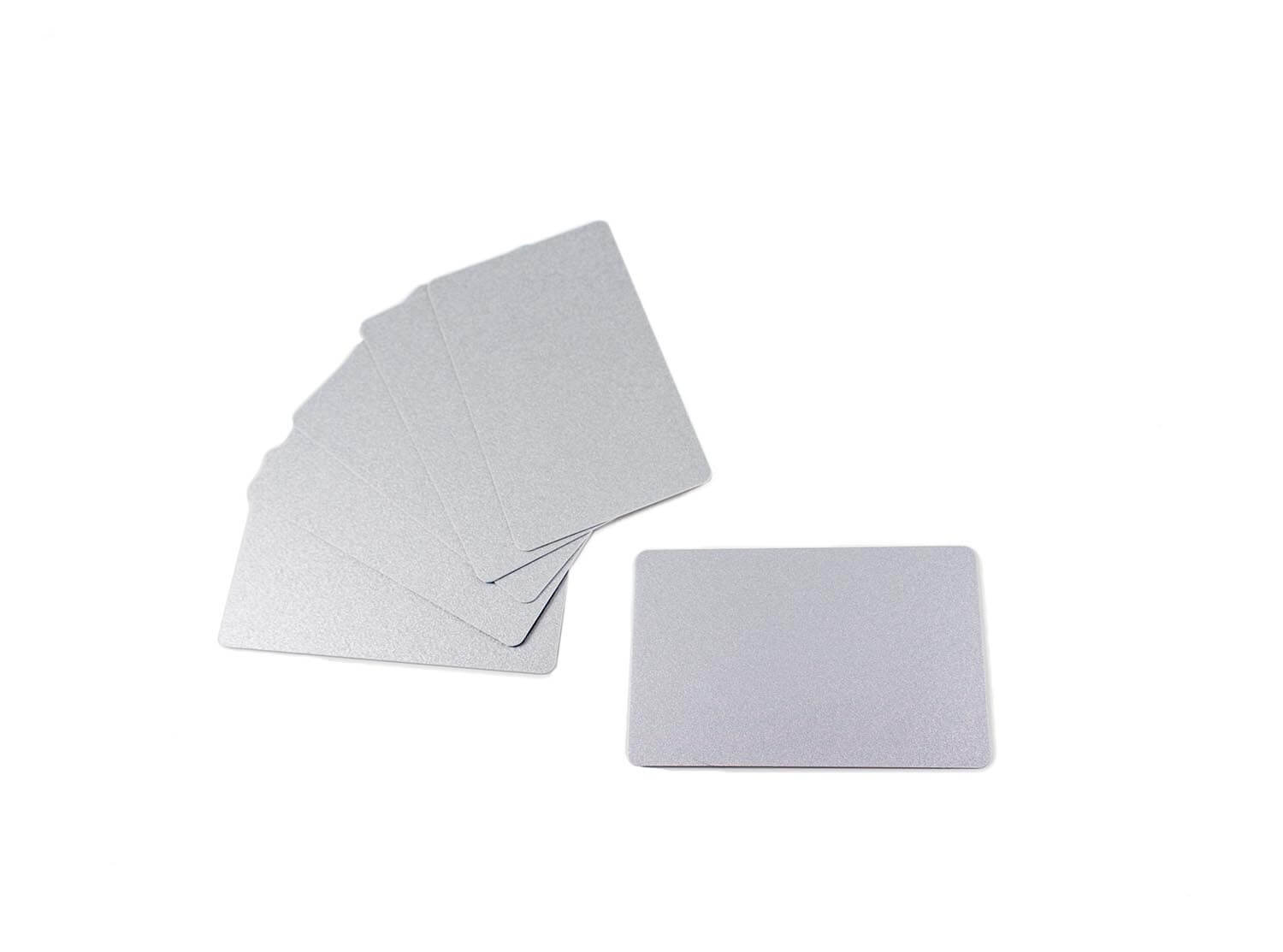 PVC Plastic Cards Blank Silver 30 mil