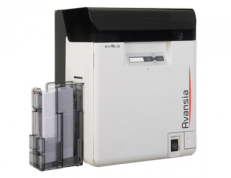 Evolis Avansia Duplex ID Card Printer USB ETH side