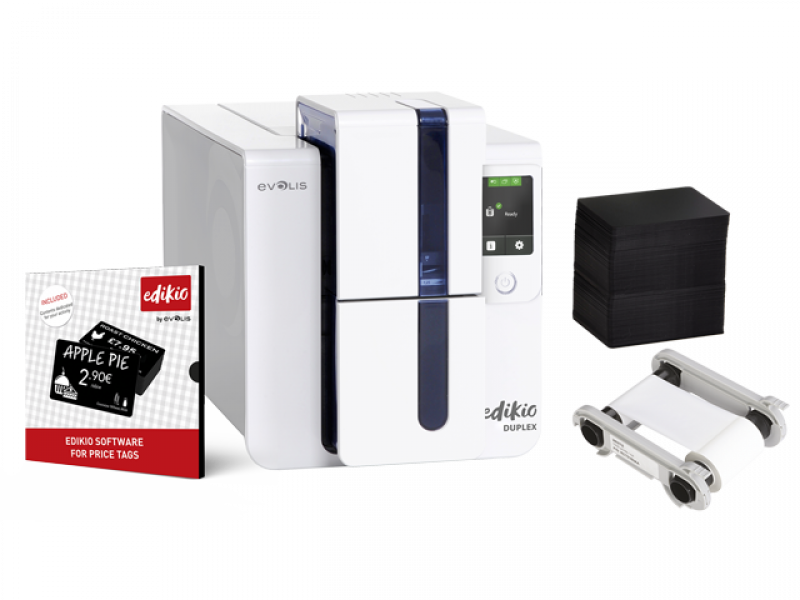 Evolis Edikio Duplex ID Card Printer Bundle