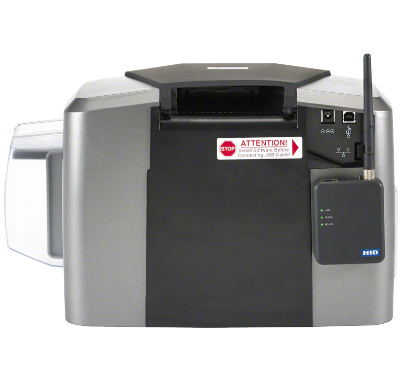 HID FARGO DTC1250e ID Card Printer back