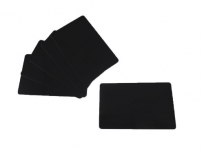 PVC plastic cards black matted through 0.5 mm